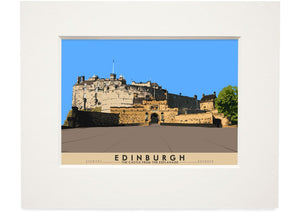 Edinburgh: the Castle from the Esplanade – small mounted print - Indy Prints by Stewart Bremner