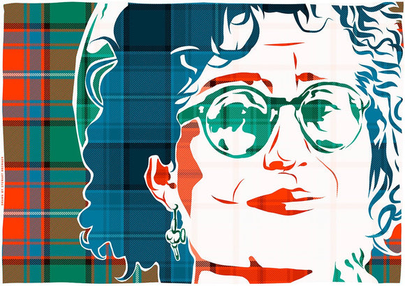 Eddi Reader on Rattray ancient tartan – giclée print - Indy Prints by Stewart Bremner