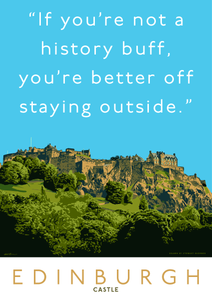 Stay outside Edinburgh Castle – poster