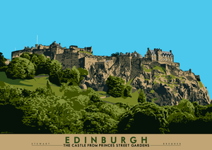 Edinburgh: the Castle from Princes Street Gardens - Indy Prints by Stewart Bremner