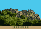 Edinburgh: the Castle from Princes Street Gardens – poster - natural - Indy Prints by Stewart Bremner
