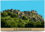 Edinburgh: the Castle from Princes Street Gardens – magnet - natural - Indy Prints by Stewart Bremner