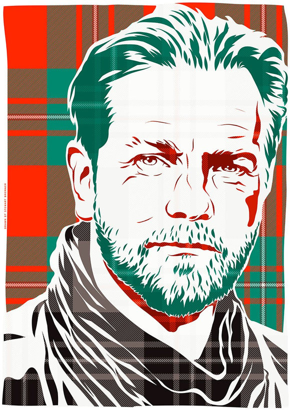Ewan McGregor on MacGregor ancient tartan – giclée print - Indy Prints by Stewart Bremner