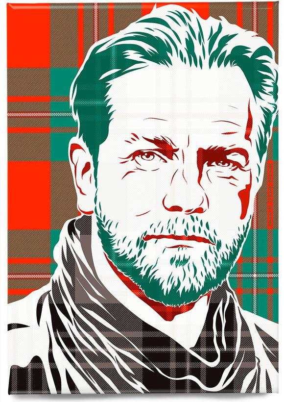 Ewan McGregor on MacGregor ancient tartan – magnet - Indy Prints by Stewart Bremner