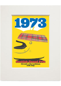 Scottish Grand Prix – small mounted print - Indy Prints by Stewart Bremner