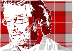 Iain M Banks on Menzies tartan – giclée print - Indy Prints by Stewart Bremner