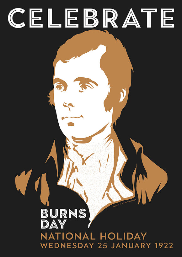 Burns Day – poster - Indy Prints by Stewart Bremner