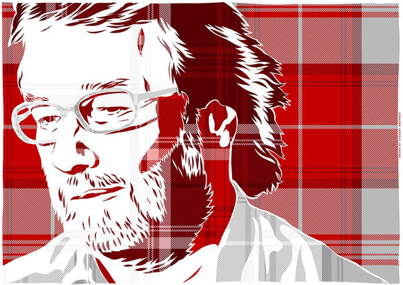 Iain M Banks on Menzies tartan – poster - Indy Prints by Stewart Bremner