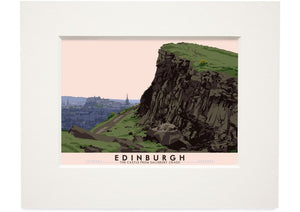 Edinburgh: the Castle from Salisbury Crags – mounted card