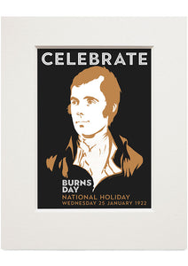 Burns Day – small mounted print - Indy Prints by Stewart Bremner