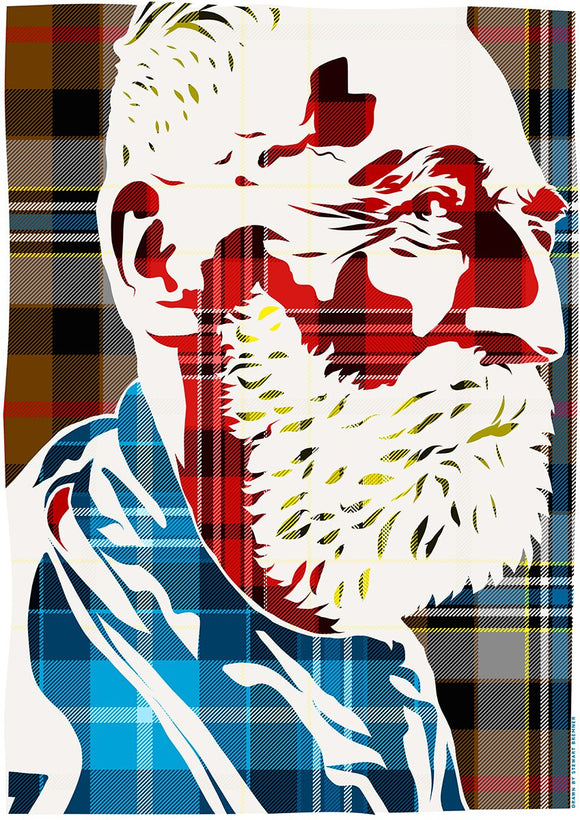 John Byrne on Campbell hunting tartan – poster - Indy Prints by Stewart Bremner