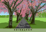 Edinburgh: Spring Time in The Meadows – giclée print