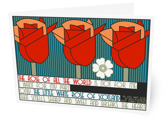 The little white rose of Scotland – card - Indy Prints by Stewart Bremner
