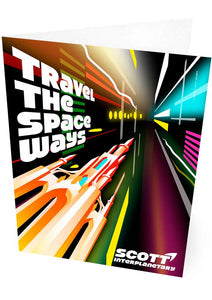 Travel the space ways – card - Indy Prints by Stewart Bremner