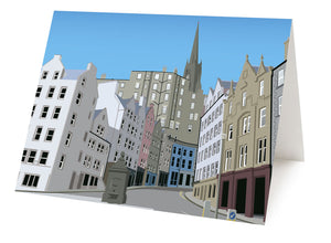 Victoria Street from the Grassmarket  – card
