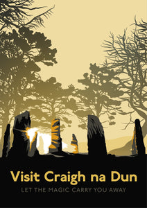 Visit Craigh na Dun – poster - Indy Prints by Stewart Bremner