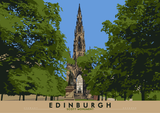 Edinburgh: Scott Monument – poster - natural - Indy Prints by Stewart Bremner