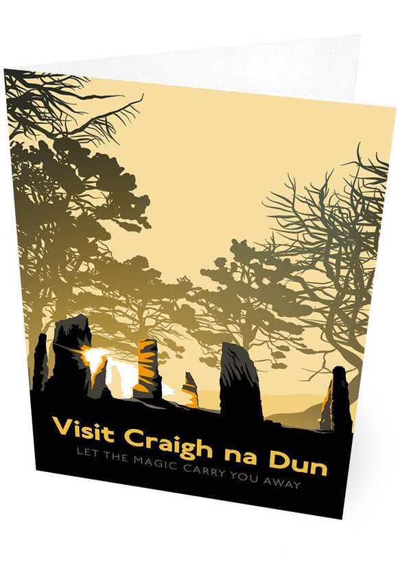 Visit Craigh na Dun – card - Indy Prints by Stewart Bremner