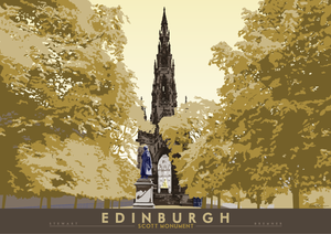 Edinburgh: Scott Monument - Indy Prints by Stewart Bremner