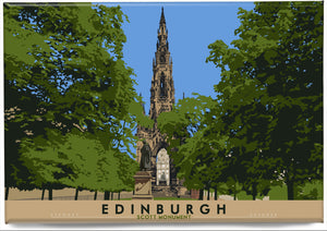 Edinburgh: Scott Monument – magnet - Indy Prints by Stewart Bremner