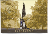 Edinburgh: Scott Monument – magnet - yellow - Indy Prints by Stewart Bremner