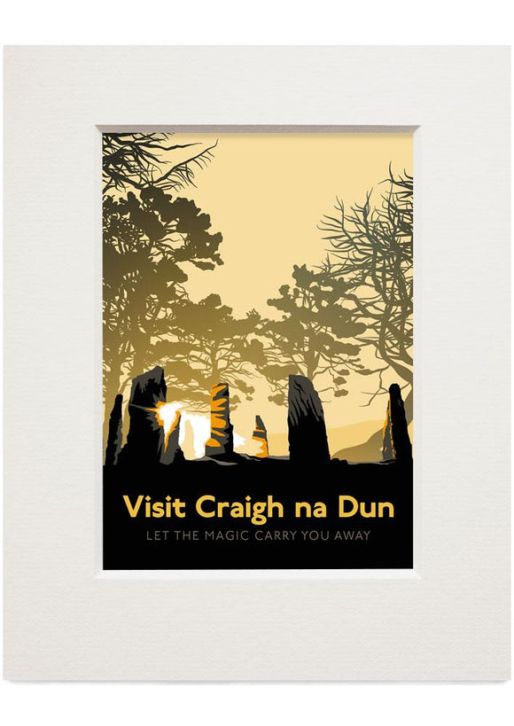 Visit Craigh na Dun – small mounted print - Indy Prints by Stewart Bremner