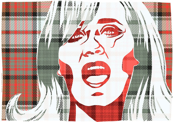 Lulu on MacDonald dress weathered tartan – giclée print - Indy Prints by Stewart Bremner