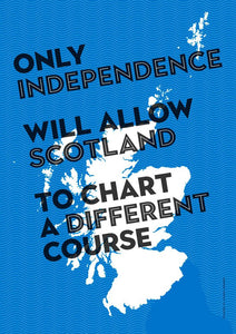 Chart a different course – poster - Indy Prints by Stewart Bremner