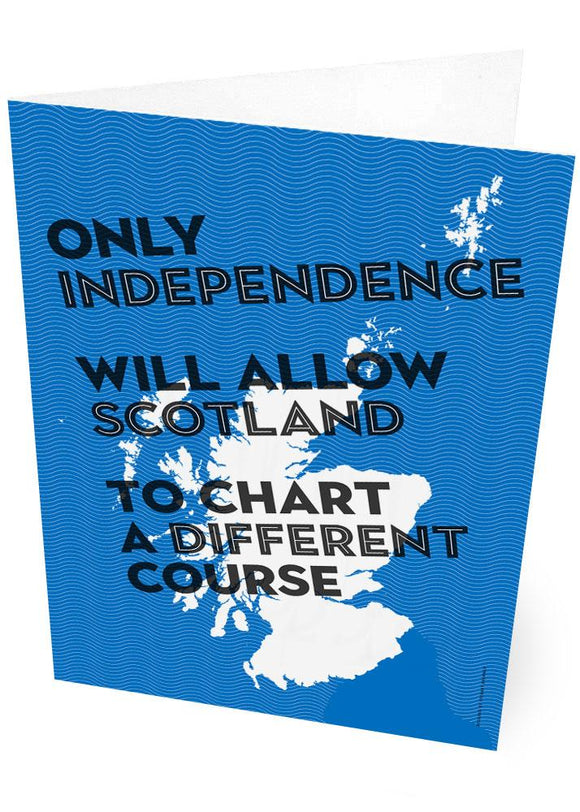 Chart a different course – card - Indy Prints by Stewart Bremner