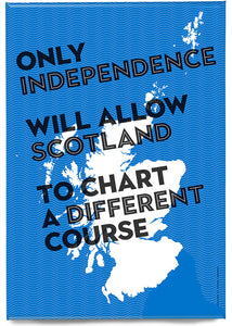 Chart a different course – magnet - Indy Prints by Stewart Bremner