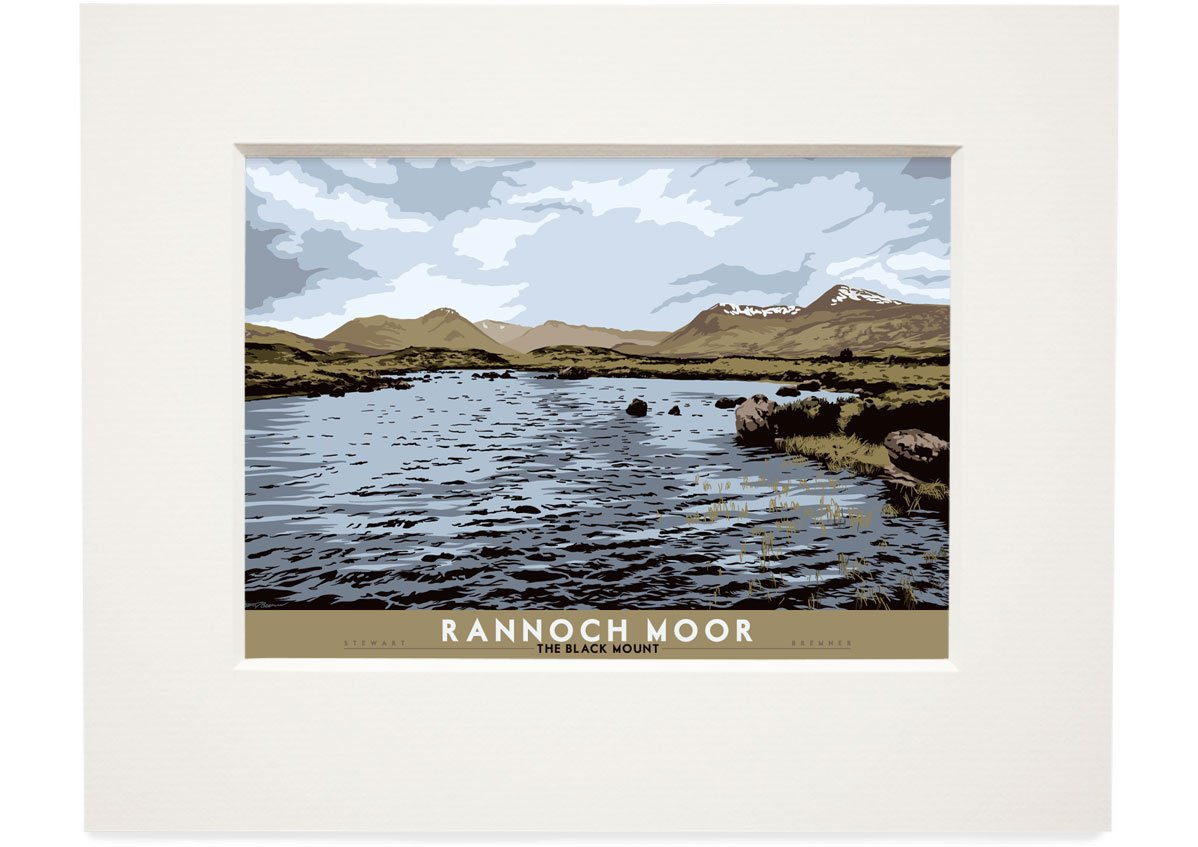 Rannoch Moor: The Black Mount – small mounted print