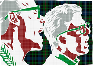 The Proclaimers on Robertson hunting ancient tartan – poster - Indy Prints by Stewart Bremner