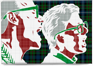 The Proclaimers on Robertson hunting ancient tartan – magnet - Indy Prints by Stewart Bremner