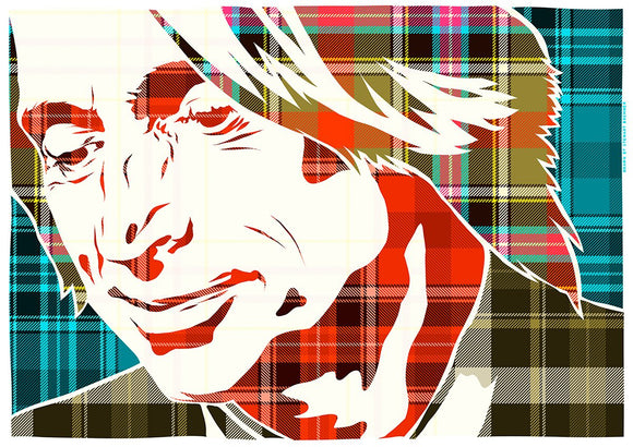Robert Carlyle on Bruce of Kinnaird ancient tartan – poster - Indy Prints by Stewart Bremner