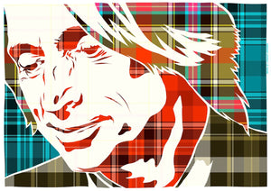 Robert Carlyle on Bruce of Kinnaird ancient tartan – giclée print - Indy Prints by Stewart Bremner
