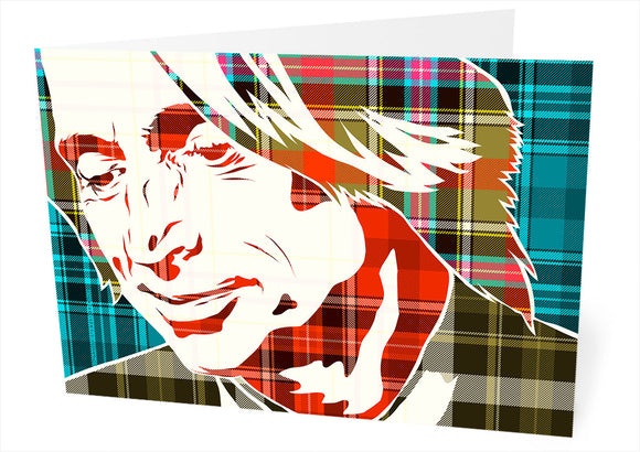 Robert Carlyle on Bruce of Kinnaird ancient tartan – card