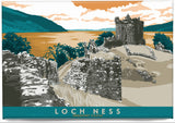 Loch Ness: Urquhart Castle – magnet - turquoise - Indy Prints by Stewart Bremner