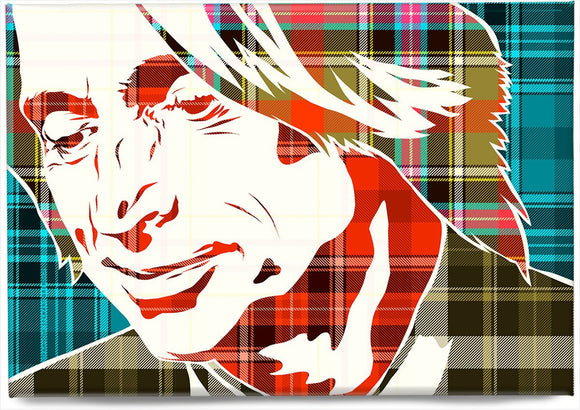 Robert Carlyle on Bruce of Kinnaird ancient tartan – magnet - Indy Prints by Stewart Bremner