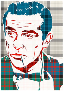 Sean Connery on MacDonald of Clanranald ancient tartan – poster - Indy Prints by Stewart Bremner