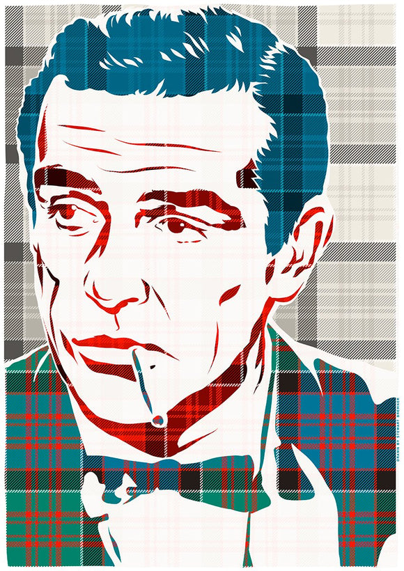 Sean Connery on MacDonald of Clanranald ancient tartan – giclée print - Indy Prints by Stewart Bremner