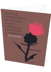 It makes you a democrat – card - Indy Prints by Stewart Bremner
