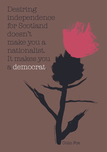 It makes you a democrat – poster - Indy Prints by Stewart Bremner