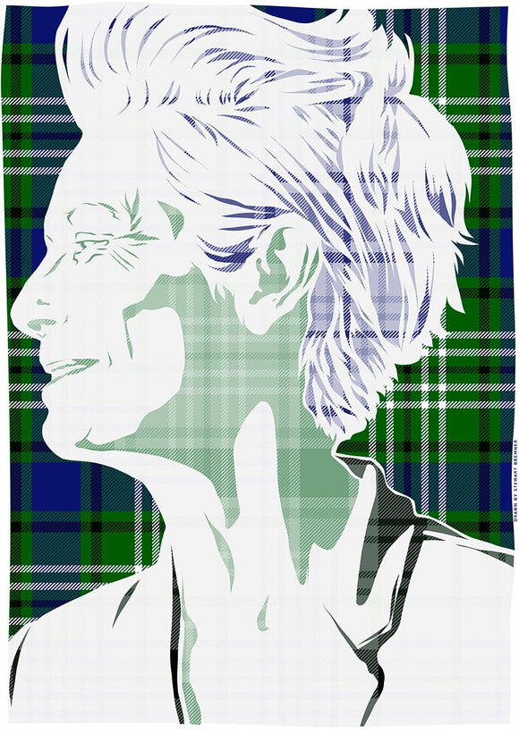 Tilda Swinton on Swinton tartan – poster - Indy Prints by Stewart Bremner