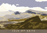 Isle of Skye: Quiraing – poster - blue - Indy Prints by Stewart Bremner