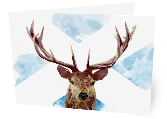 The Scottish stag – card - Indy Prints by Stewart Bremner