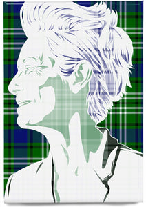 Tilda Swinton on Swinton tartan – magnet - Indy Prints by Stewart Bremner