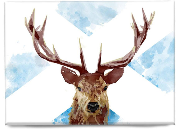 The Scottish stag – magnet - Indy Prints by Stewart Bremner
