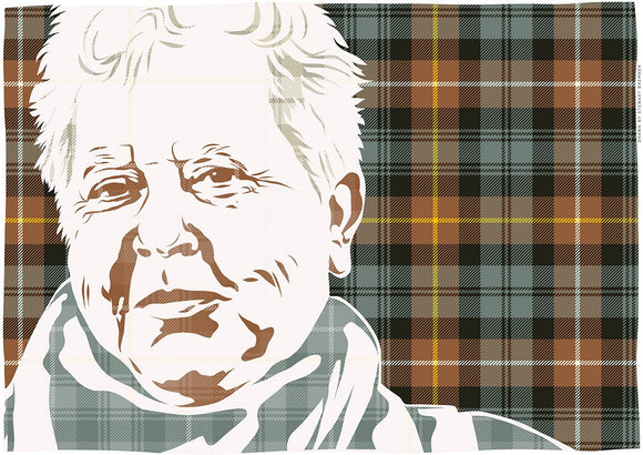 Val McDermid on Campbell of Argyll weathered tartan – poster - Indy Prints by Stewart Bremner
