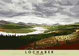 Lochaber: Loch Garry – poster - natural - Indy Prints by Stewart Bremner