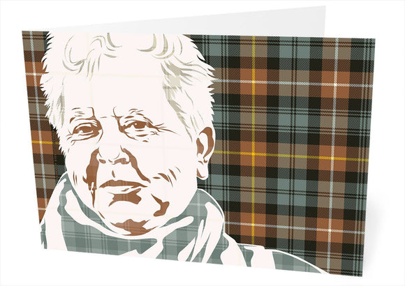 Val McDermid on Campbell of Argyll weathered tartan – card - Indy Prints by Stewart Bremner